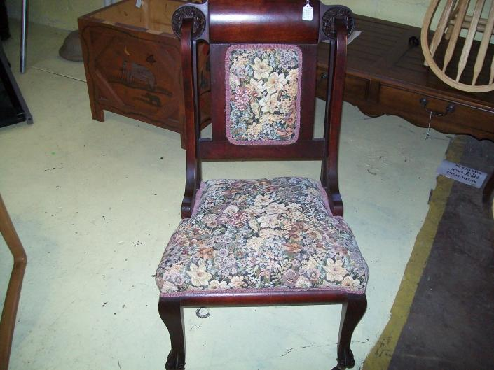 Restored Antique Chair on Casters