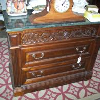 Marble top and secret drawer